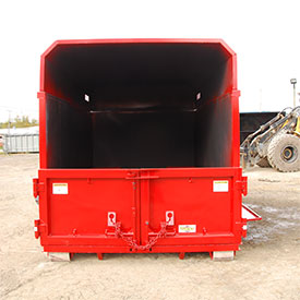 roll off hooklift chipper box with barn doors