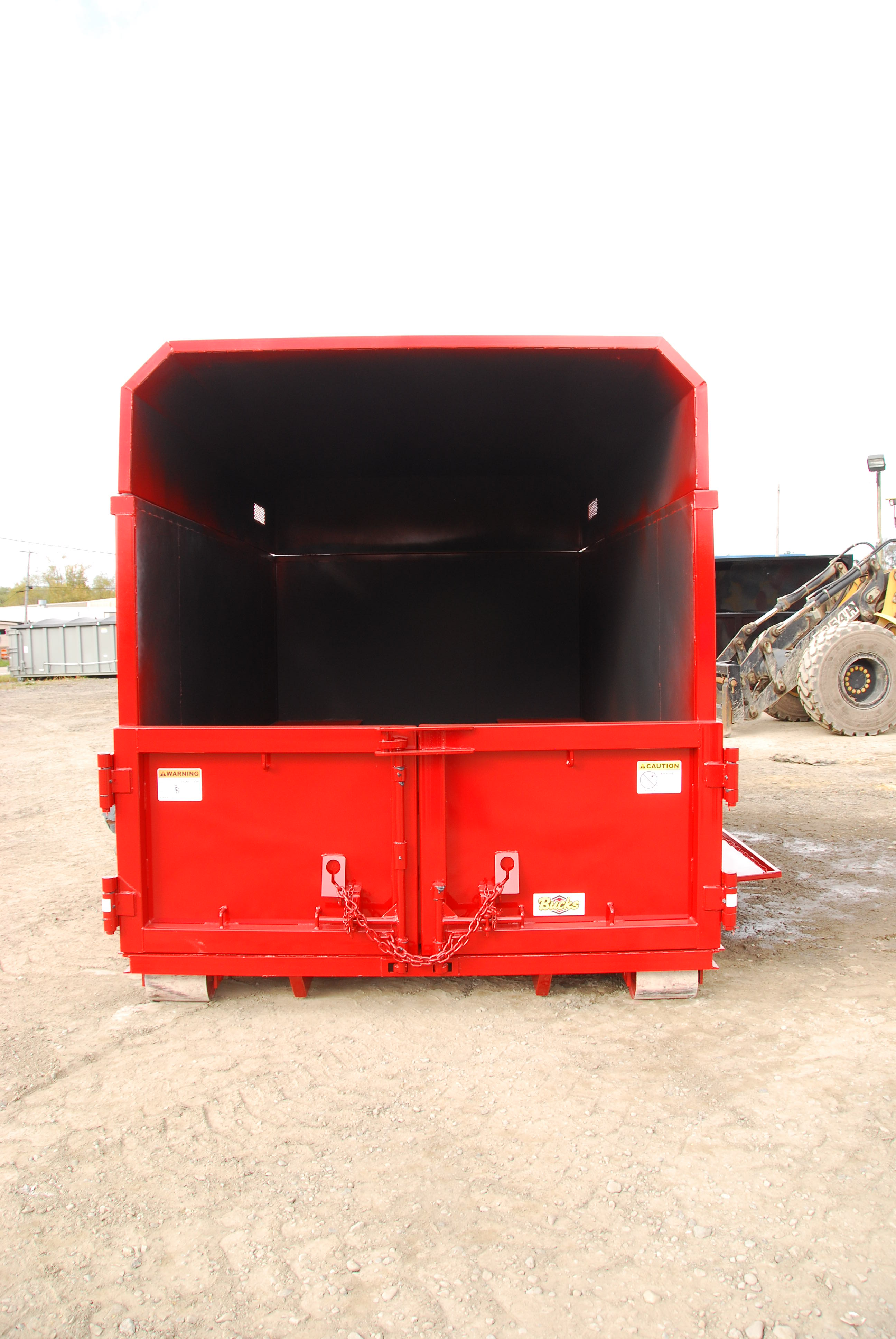 Roll Off Hooklift Chipper Box With Barn Doors Bucks