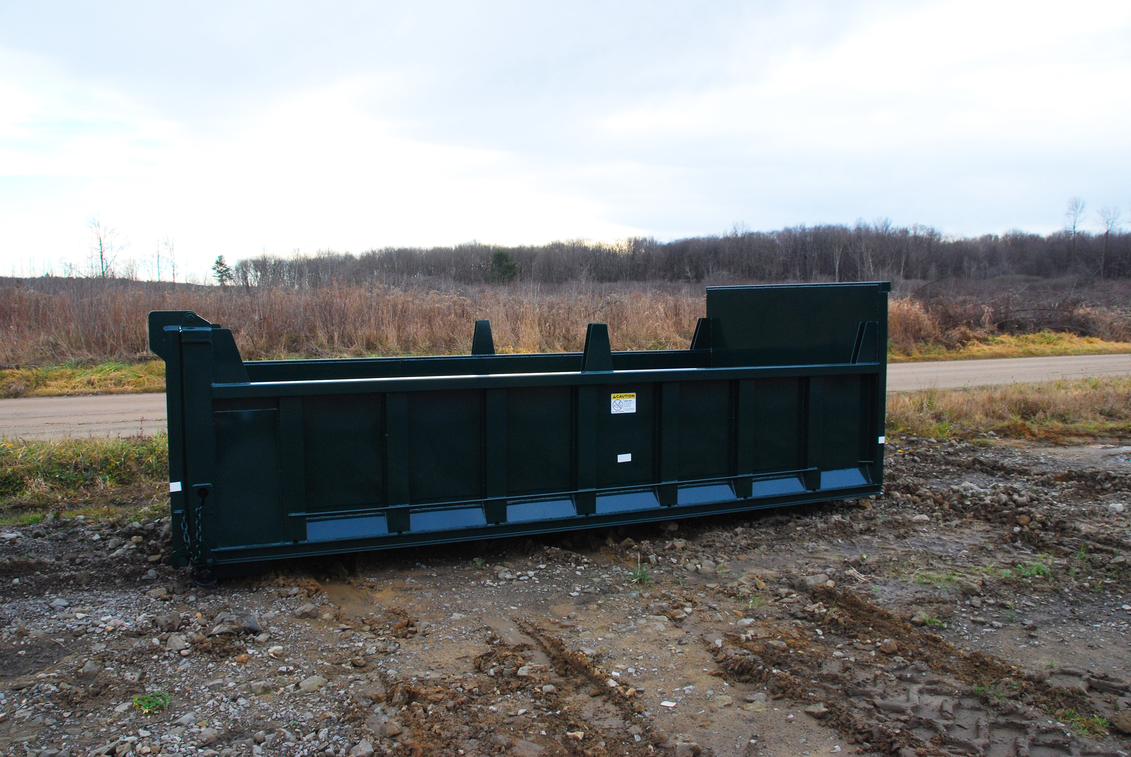 Roll Off Hooklift Dump Body With Dump Gate And Board