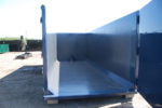 heavy duty blue construction scrap hauling roll off container with interior gussets