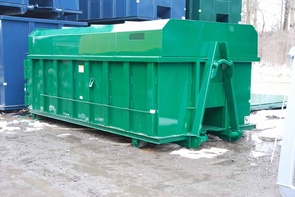 Green Chipper with Cable and Hooklift Combo Hookup