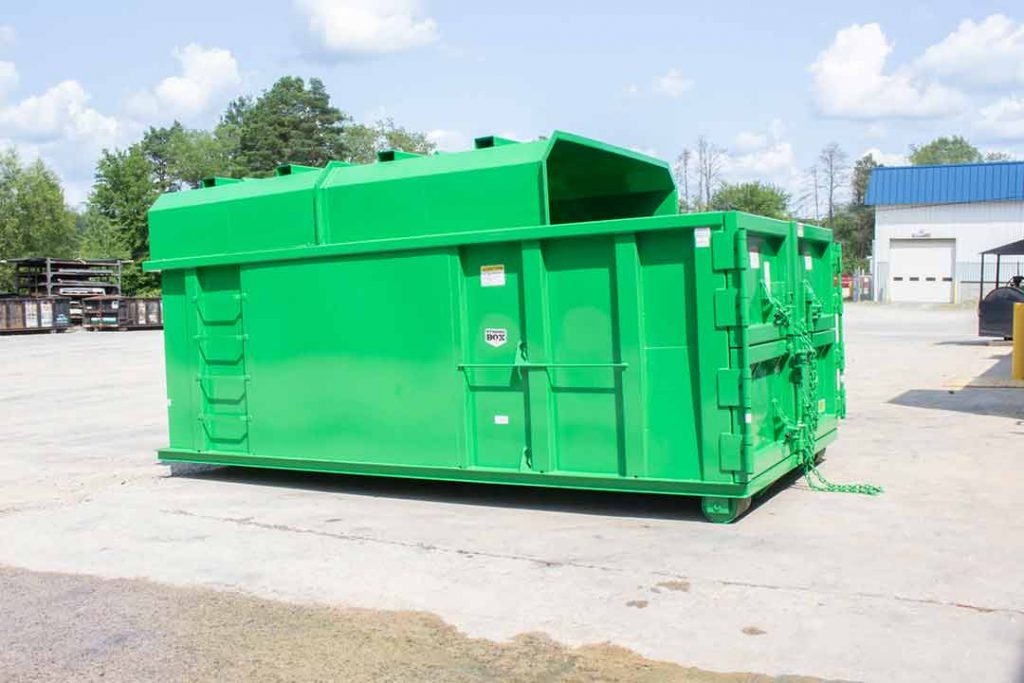 Green Chipper with Half Roof and Double Barn Doors