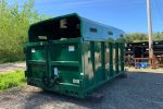 Green permanent mount chipper container with barn doors and light inserts
