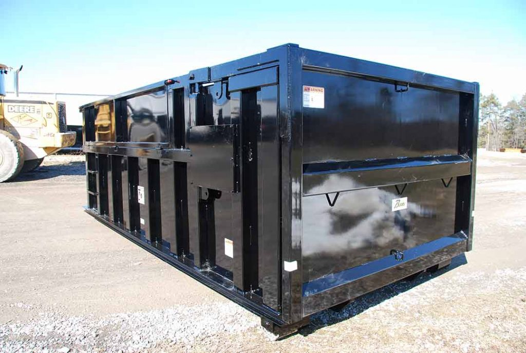 Custom Box rolloff container with collapsable boards