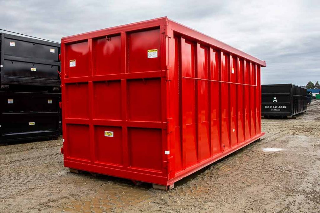 Red Custom Box Ultra Box with 9 Panel Tailgate, Side Stiffeners and Inverted Angle