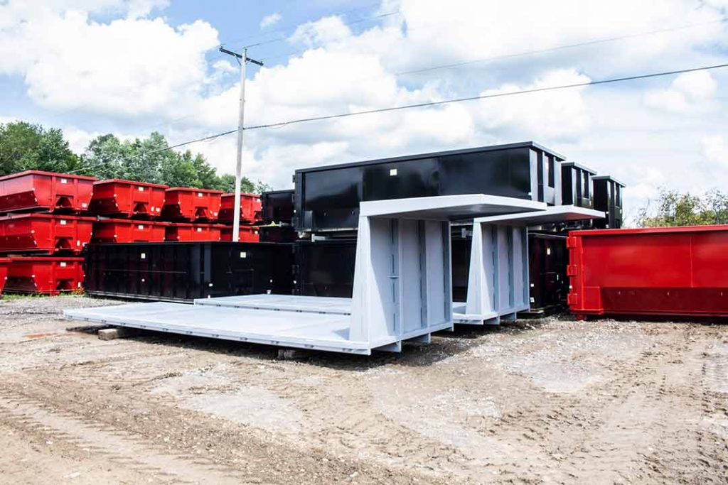 Custom Box permanent mount flatbed with cab shields