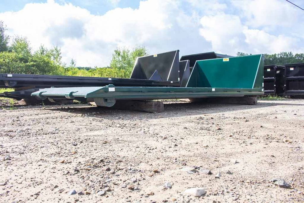 Green Flatbed and Black Flatbed with beavertails