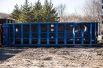 Blue Poly Box rolloff container