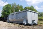 Standard grey double rolling roof tub style container